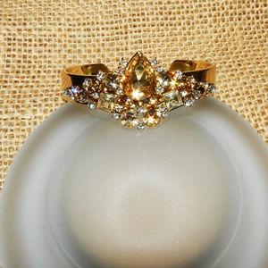 Jewelry - Citrine Amber Crystal Bling Cuff Bracelet